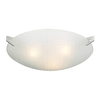 PLC Lighting Contempo 17-in W Polished Chrome Frosted Glass Semi-Flush Mount Light