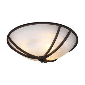 PLC Lighting Highland 21-in W Oil Rubbed Bronze Ceiling Flush Mount Light