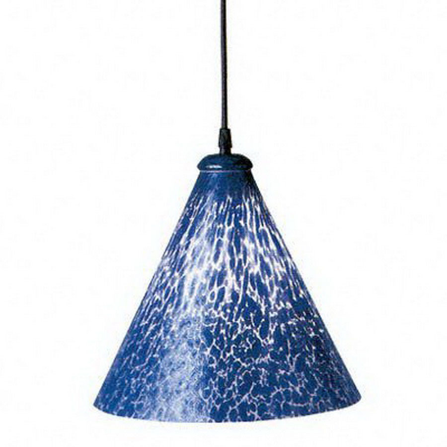 shop plc lighting rioi w cobalt blue black mini pendant light