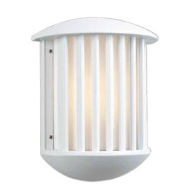 PLC Lighting Circa 13-3/4-in White Outdoor Wall Light