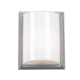 PLC Lighting Stratford 11-1/2-in Architectural Silver Outdoor Wall Light