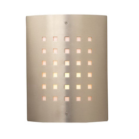 PLC Lighting Figaro 11-3/4-in Satin Nickel Outdoor Wall Light