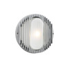 PLC Lighting Sprint 10-in Silver Outdoor Wall Light