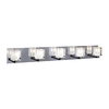 PLC Lighting 5-Light Glacier Polished Chrome Standard Bathroom Vanity Light