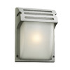 PLC Lighting Moser 9-3/4-in Silver Outdoor Wall Light