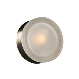 PLC Lighting 6-in W Metz 1-Light Satin Nickel Pocket Wall Sconce 6571 SN