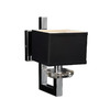PLC Lighting 6-in W Icon 1-Light Polished Chrome Arm Wall Sconce
