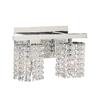 PLC Lighting 2-Light Rigga Polished Chrome Crystal Standard Bathroom Vanity Light