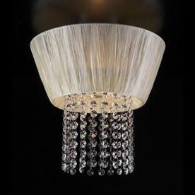 PLC Lighting 12-in W Polished Chrome Art Glass Ceiling Flush Mount