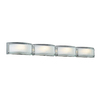 PLC Lighting 4-Light Millennium Polished Chrome Standard Bathroom Vanity Light
