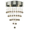 PLC Lighting 17-in W Beverly 1-Light Polished Chrome Crystal Arm Wall Sconce