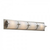 PLC Lighting Ibex 32-in W 1-Light Satin Nickel Pocket Hardwired Wall Sconce