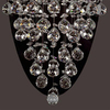 Classic Lighting Andromeda 14-in W 1-Light Chrome Crystal Pocket Hardwired Wall Sconce