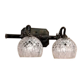 Classic Lighting 2-Light Waterbury Oxidized Bronze Crystal Bathroom Vanity Light