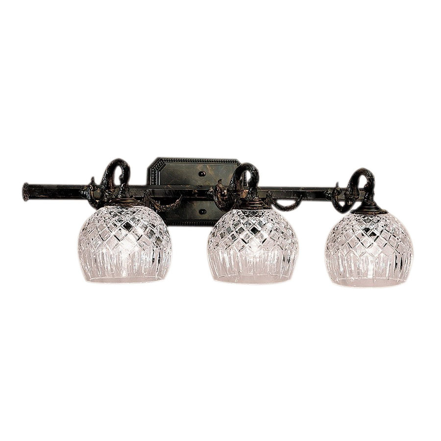 Vanity Lights For Bathroom Bronze : Shop Classic Lighting 3-Light Waterbury Oxidized Bronze Crystal Bathroom Vanity Light at Lowes.com
