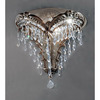Classic Lighting 12-in W Emily 1-Light Chrome Crystal Pocket Wall Sconce
