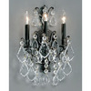 Classic Lighting 12-in W Versailles 3-Light Antique Bronze Crystal Arm Wall Sconce