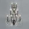 Classic Lighting 20-in W Versailles 9-Light Antique Bronze Crystal Arm Wall Sconce