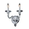 Classic Lighting 13-in W Palermo 2-Light Chrome Crystal Arm Wall Sconce