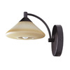 Kendal Lighting W 1-Light Oil-Rubbed Bronze Arm Wall Sconce