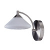 Kendal Lighting W 1-Light Satin Nickel Arm Wall Sconce