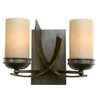 Varaluz 12-in W Aizen 2-Light Aspen Bronze Arm Wall Sconce