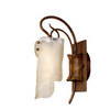 Varaluz 5-1/4-in W Soho 1-Light Hammered Ore Arm Wall Sconce