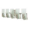 Varaluz 5-Light Polar Blackened Silver Bathroom Vanity Light