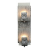 Varaluz 4-1/2-in W Polar 2-Light Blackened Silver Arm Wall Sconce