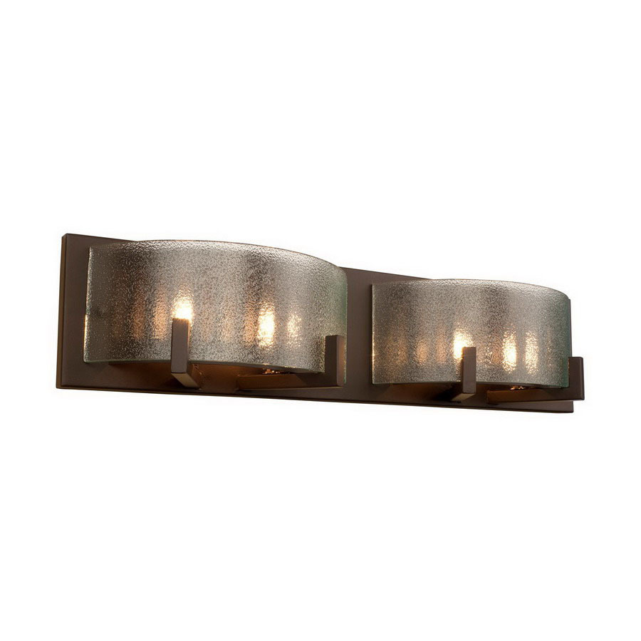 Shop varaluz 2 light firefly industrial bronze bathroom for Bathroom vanity lights
