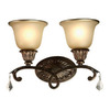 Artcraft Lighting Florence 16-in W 2-Light Oil Rubbed Bronze Arm Hardwired Wall Sconce