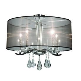 Artcraft Lighting 15-in W Chrome Art Glass Semi-Flush Mount Light