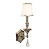 Artcraft Lighting 5-1/2-in W Newcastle 1-Light Distressed Pewter Crystal Accent Arm Wall Sconce