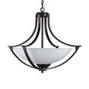Whitfield Lighting 3-Light Cortnie Ebony Bronze Chandelier