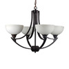 Whitfield Lighting 4-Light Cortnie Ebony Bronze Chandelier