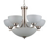Whitfield Lighting 8-Light Taylor Satin Steel Chandelier