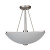 Whitfield Lighting 16-in Brushed Pewter Semi-Flush Mount Light