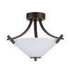Whitfield Lighting 16-in Oil Rubbed Bronze Semi-Flush Mount Light