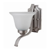 Whitfield Lighting 8-in W 1-Light Satin Steel Arm Wall Sconce