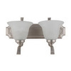 Whitfield Lighting 2-Light Satin Steel Bathroom Vanity Light