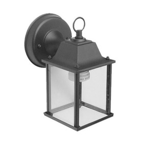 Whitfield Lighting 10-1/4-in Black Outdoor Wall Light