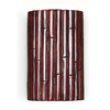 A-19 Nature 6-in W 1-Light Cinnamon Pocket Hardwired Wall Sconce