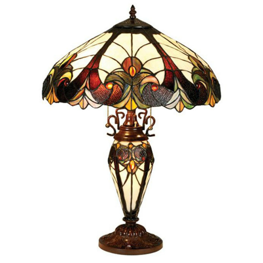 Shop Chloe Lighting 25 In Tiffany Style Indoor Table Lamp