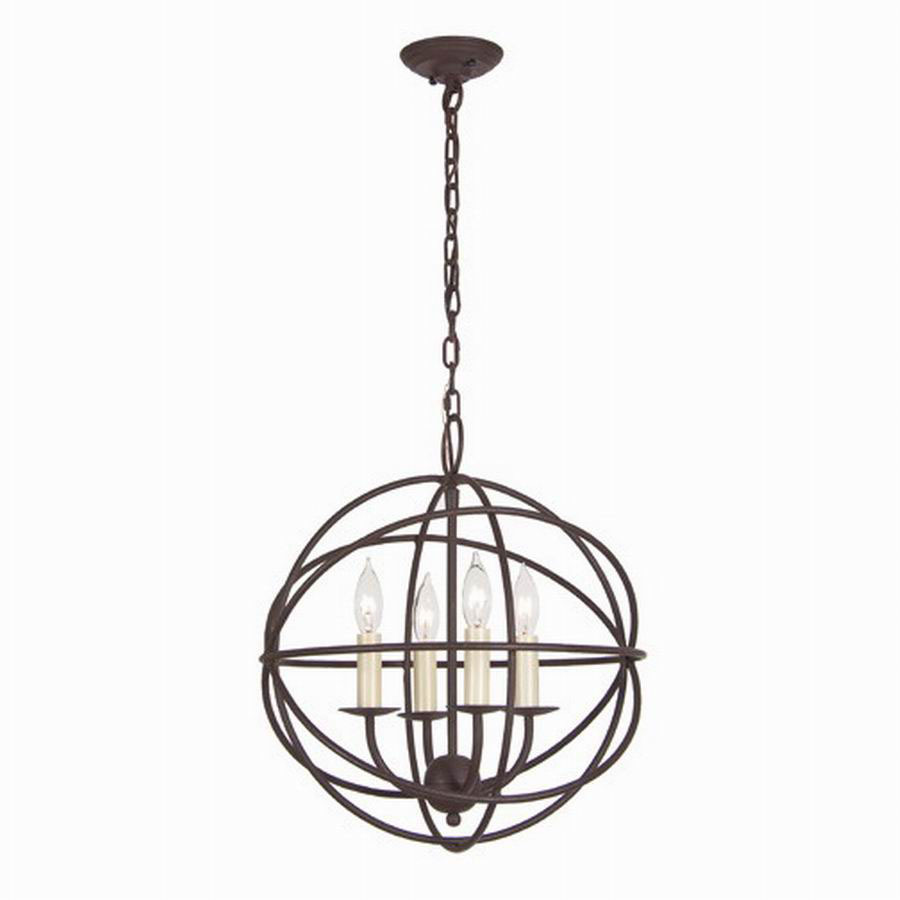 Shop JVI Designs Globe 15-in W Rust Pendant Light With