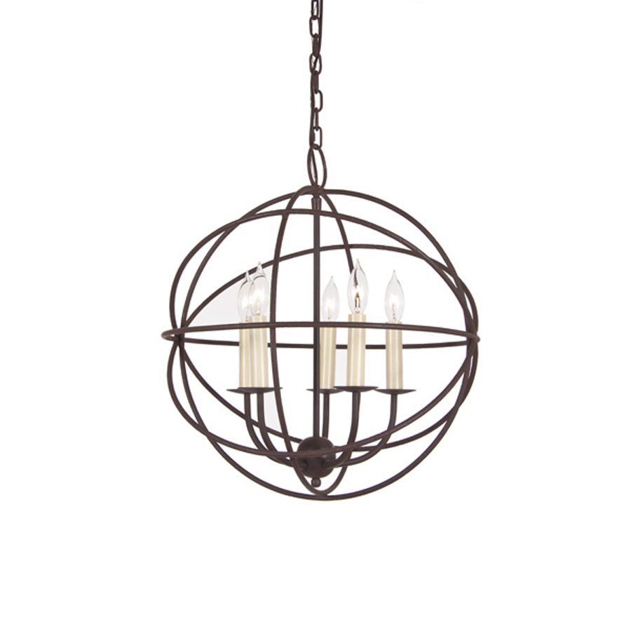 Shop JVI Designs Globe 18-in W Rust Hardwired Standard