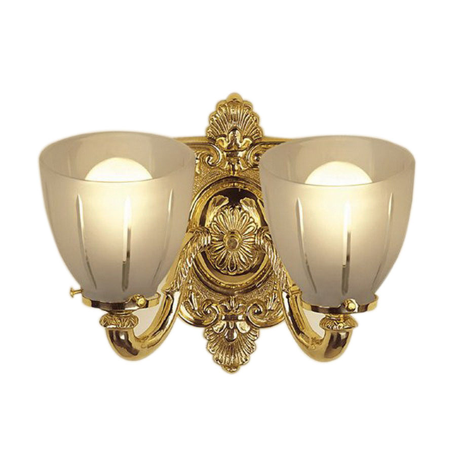 Shop JVI Designs 2-Light Polished Brass Standard Bathroom Vanity Light at Lowes.com