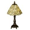 Meyda Tiffany 13-in Mahogany Bronze Tiffany-Style Indoor Table Lamp with Glass Shade