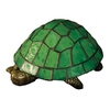 Meyda Tiffany Turtle 4-in Tiffany-Style Standard Indoor Table Lamp with Glass Shade