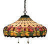 Meyda Tiffany Colonial Tulip 20-in W Mahogany Bronze Hardwired Standard Pendant Light with Tiffany-Style Shade