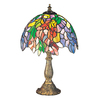 Meyda Tiffany 16-in Mahogany Bronze Tiffany-Style Indoor Table Lamp with Tiffany-Style Shade